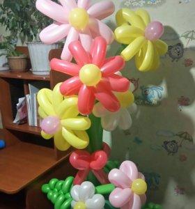 Клумба из воздушных шаров!