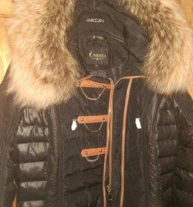 Модное пуховое пальто женское. НОВОЕ!!!