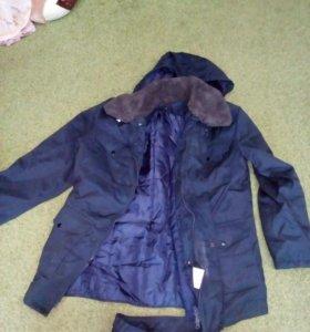 Утепленный комплект, куртка на съемной подстежке