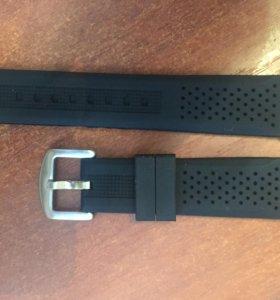 Резиновый ремешок на часы 22 мм