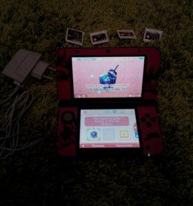Nintendo 3DS XL + sky3ds синяя кнопка + прошитая