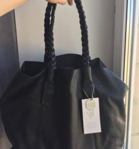 Новая кожаная сумка Zara