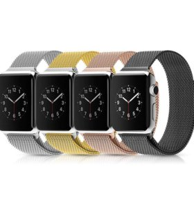 Pемешок для Apple Watch 42mm Milanese Loop черный