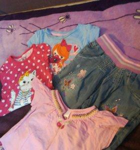 Одежда (2пакета) на девочку