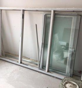 Пластиковое окно с рамой б.у.
