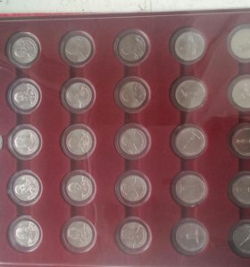 28 монет 200 лет победы 1812г в капсулах и планшет