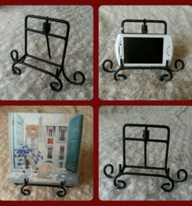 Подставка для смартфона / визиток кованая новая