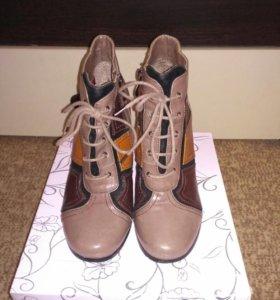 Ботинки из натуральной кожи