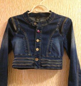 Короткая джинсовая курточка