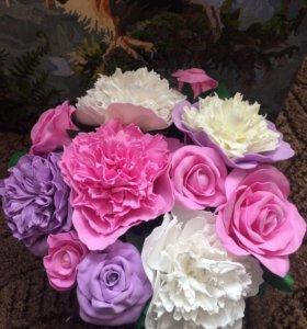Цветы из фоамирана💐