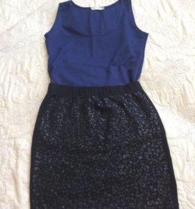Топ+юбка
