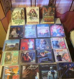 Диски, DVD-7 шт, МРЗ-12
