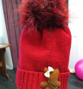Теплая шапочка 54р