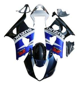 Комплект пластика Suzuki GSX-R 1000 03-04 сине-бел