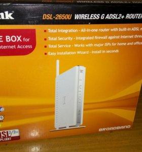 Wi-Fi роутер D-Link DSL 2650 U