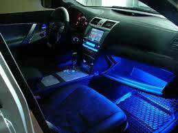 Синяя подсветка салона