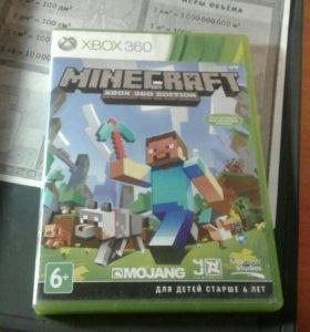 """Игра """"Minecraft"""" на XBOX 360."""