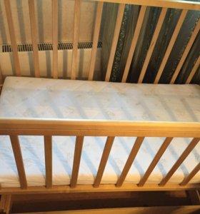 Кроватка маятник поперечный
