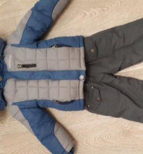 Зимняя куртка и полукомбинезон