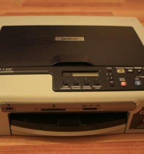 МФУ (Принтер сканер копир) Brother DCP-130C
