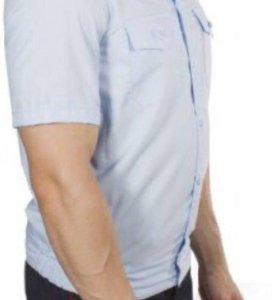 Рубашка полиция светло-голубая с коротким рукавом