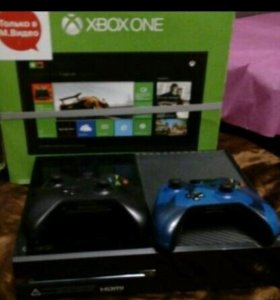 Xbox one 500GB + 2 джойстика+76 игр