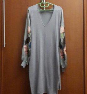 Очень эффектное платье трикотажное