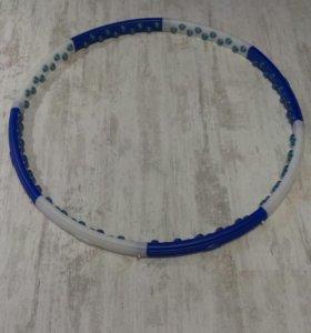 Обруч масажный,2 магнитных ряда,вес 1,3,диаметр 97