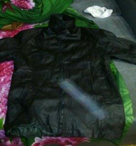Кожаная куртка женская xs