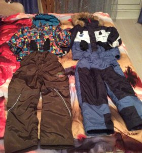 Комбинезоны зимние,куртки весна осень цена за 1 шт