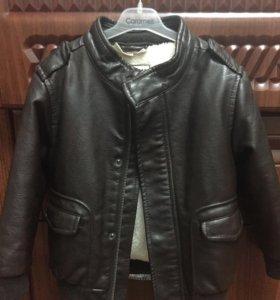 Продаю куртку кожаную фирма Zara, 2-4 года