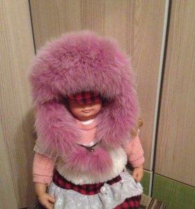 Шапка зимняя на девочку 6-9 лет
