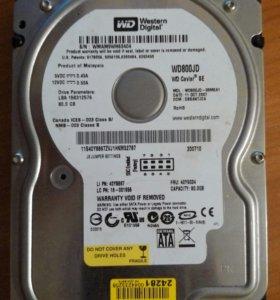 hdd 80gb sata WD800JD