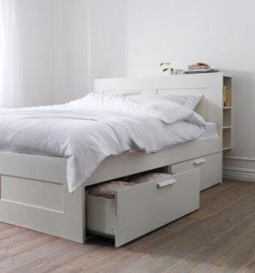 Кровать Икеа Бримнэс