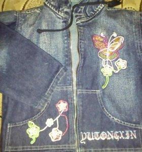 Детская джинсов куртка