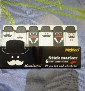 Стикеры Закладки.Stick marker.