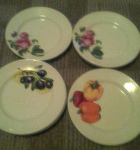 Тарелки десертные с клеймом чайка