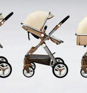 Детская коляска Baoneo 2 В 1 эко-кожа