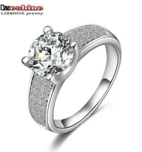Кольцо стерлинговое серебро