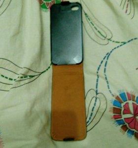Кожаный чехол на айфон 4,4s