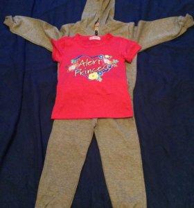 Новый трикотажный костюм для девочки