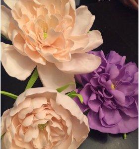 Цветы ручной работы из фоамарина