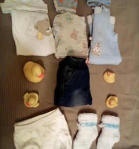 Пакет с вещами на мальчика 74 размера