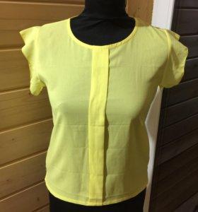 Блуза желтая новая
