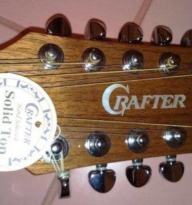 Гитара crafter новая 12-ти струнная в футляре