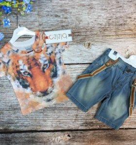 Комплект, футболка и шорты