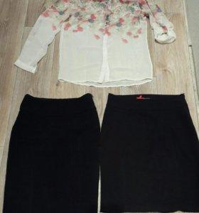 Блузка и классические юбки