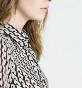 Шифоновая блузка-рубашка от river silt
