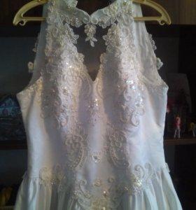 Свадебное платье ручная вышивка