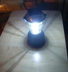 Туристический фонарь (светильник) с солнечным з/у!